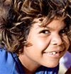 Smiling Aboriginal child