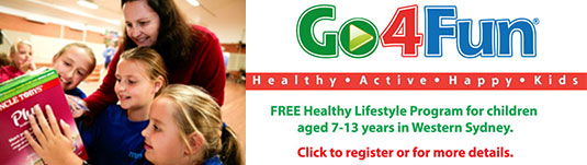 Go4Fun – free healthy lifestyle programs for children in Western Sydney