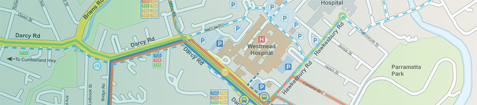 Map showing Westmead Hospital