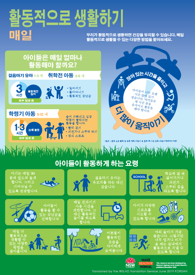 korean active infographic