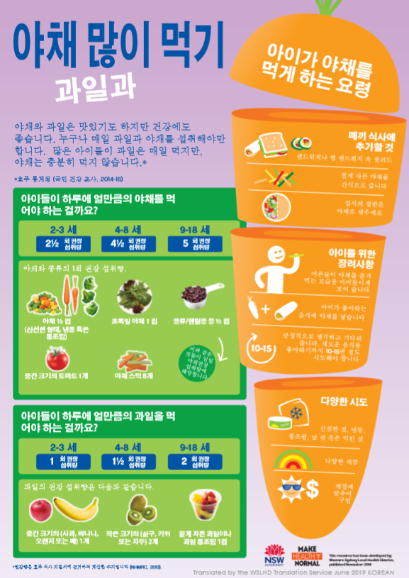 korean veg infographic