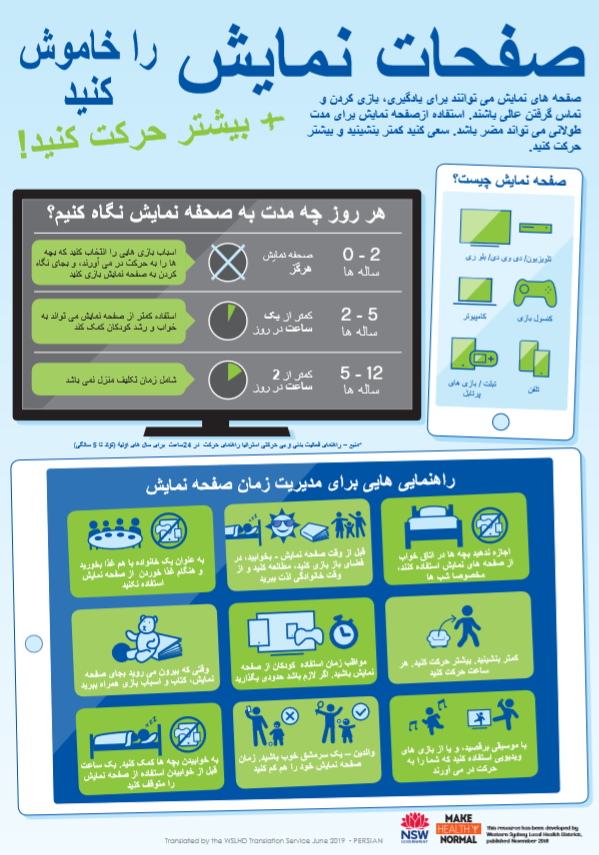 persian screens infographics