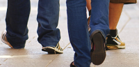 Youth health image with peoples feet