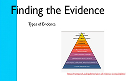 Finding the evidence PP