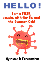 Interactive activity book about Coronavirus for children