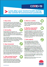 Look after your mental health during the COVID-19 pandemic