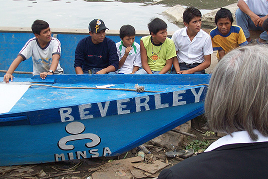 4 Boat donated by Bev to the town of Satipo