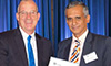 Westmead Hospital's Professor Jacob George receiving his award for his contribution to liver disease