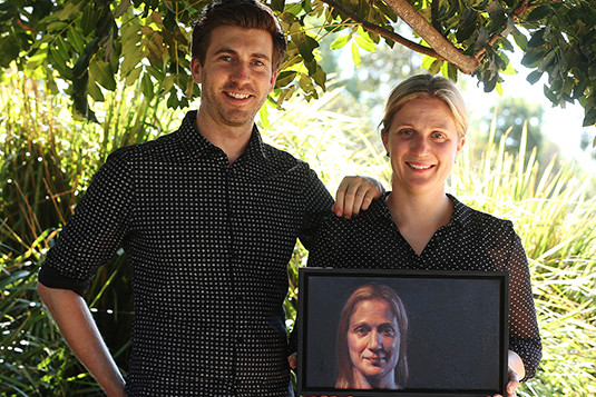 Surry Hills painter Michael Simms and neurosurgeon Dr Gemma Olsson